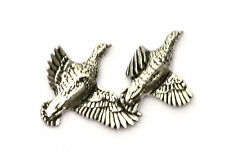 Partridge Shooting brace pin badge Pewter Gift Pouch for hunter fans