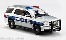 NORSCOT 2015 CHEVROLET TAHOE POLICE WITH LIGHTS SILVER 1/24 DIECAST 65112