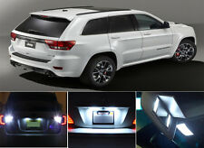 LED Package - License Plate + Vanity + Reverse for Jeep Grand Cherokee 8 Pcs
