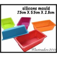 1 x  Rectangle Bar Silicone Bakeware Cake Muffin Mould Mold Pan Soap Candle Wax