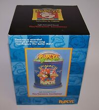 Popeye Tin/Ceramic Cookie Jar NIB Vandor Comic Character Light Sound Activated
