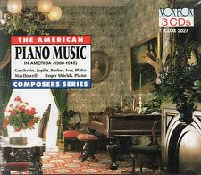 3 CD BOX PIANO MUSIC AMERICA GRIFFES JOPLIN BARBER ANTHEIL IVES GERSHWIN SHIELDS