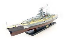 Schlachtschiff Bismarck, Schiffsmodell, Handarbeit Holz,  100 cm, Modell