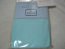 New BB Basic Jersey Knit Fitted Protacrib Sheet - Mint Blue  NIP