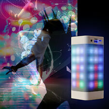 Portable PULSE LED Light Stereo Wireless Bluetooth Speaker With FM for Party New