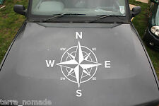 Large Compass Sticker, Decal, Land Rover, 4x4, Off Road, Navigation, Style,