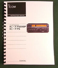 Icom IC-775DSP Instruction manual - Premium Card Stock Covers & 28 LB Paper!