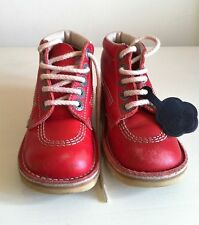 Girls Red Kick Hi Kickers Size 30
