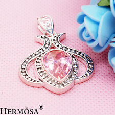 Awesome Kunzite Lady Wedding 925 Sterling Silver Necklace Pendant 1 5/8'' MP072