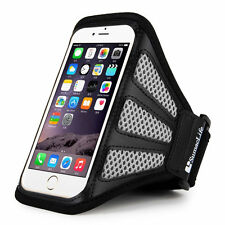 Gray Mesh Running Sports Gym Armband Case for Apple iPhone 6 SE 6S (4.7inch)