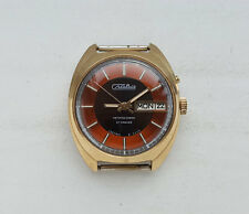 Vintage Soviet Russian Watch SLAVA. AUTOMATIC. Gold Filled Case USSR.