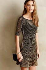 NWT - ANTHROPOLOGIE - CECILIA PRADO - Obrizus Dress - size S (Gold) $228