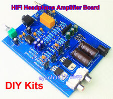 AC 15V HiFi Audiophile Headphone Amplifier Stereo Amp Board Kits NE5532 OP AMP