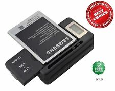 BATTERIA PER PC DESKTOP CHARGER VIAGGIO PER SAMSUNG GALAXY NOTE 3 DOCK parete USB LCD UK