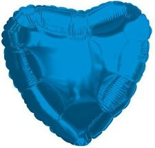 "18"" Solid Blue Heart Shape Balloon Wedding Baby Shower Birthday Over Hill Luau"