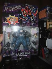 SPIDER-MAN COLLECTOR SERIES FIGURE TOTAL ARMOR RHINO, NEVER OPENED