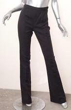 LONGCHAMP Womens Black Linen+Cotton High-Waisted Bootcut Pants FR 36/US 2/XS NEW
