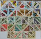 TRIANGULAR, TRIANGLE collection of 50 different Used + Mint stamps (lot#DP)