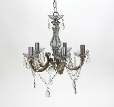 Chandelier Versailles Grey clear 5 burner 40cm Diameter Ceiling light New