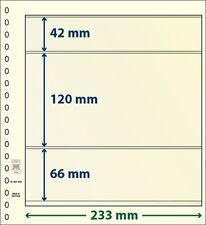 Lindner T-Blanko-Blätter mit drei Taschen im 10er Pack  Art.-Nr. 802 309
