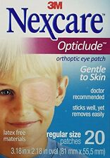 2 Pack - Nexcare Opticlude Elastic Bandages for Orthoptic Eye Patch, 20 Each