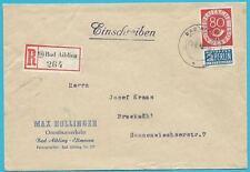 BRD Posthorn MiNr.137, Einzelfrankatur auf Brief 1953 von Bad Aibling!