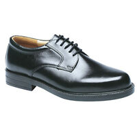 Mens Black Leather Gibson Shoes Lace Ups Size 6 7 8 9 10 11 12 13 14