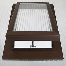 Brown Roof Vent For 25mm Polycarbonate Brass Spindle Opener SKY25B-B