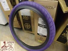 "CULT BIKES DEHART SLICK 20"" X 2.4"" WIREBEAD PURPLE/BLACKWALL BMX BICYCLE TIRE"