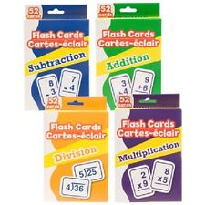 Set Of 4 Math Flash Cards (Addition, Subtraction, Multiplication & Division)