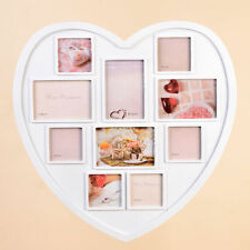 LARGE HEART SHAPED PHOTO FRAME WHITE HANGING MULTI PICTURE LOVE FRAMES GIFT