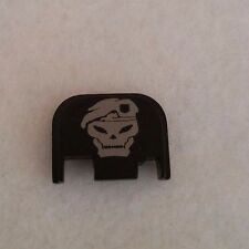 BLACK OPS Laser Etched Metal Rear Glock Slide Plate Cover USA MADE