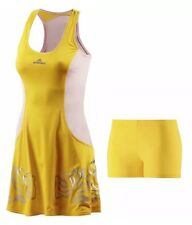 ADIDAS BY STELLA MCCARTNEY DRESS TENNIS YELLOW/ PINK DRESS SIZE 10 UK / 36 BNWT
