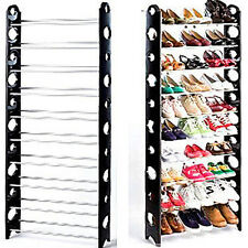 10 Tier Space Saving Storage Organizer 30 Pair Shoe Tower Rack Free Standin