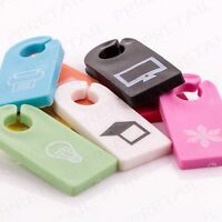 COLOURED CABLE ID TAGS Electrical Cord Markers/Label Printer/Laptop/TV Tidy Wire