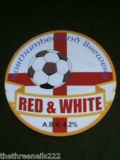 BEER PUMP CLIP - NORTHUMBERLAND RED & WHITE