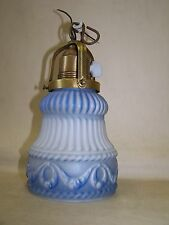 Beautiful old Art Nouveau Lamp, Glas Hanging lamp mit Rotary switch