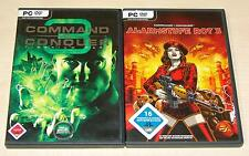 2 PC SPIELE SAMMLUNG COMMAND AND CONQUER 3 TIBERIUM WARS KANE & ALARMSTUFE ROT 3