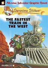 Geronimo Stilton Graphic Novels #13: The Fastest Train In the West-ExLibrary