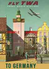 "TWA Airline Travel 11"" X 17""   Poster [ GERMANY ] -"