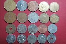 Mixed LOT of  20  EUROPEAN, ASIAN, NORTH AMERICAN & MORE, NO Duplicate Coins