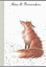 """Wrendale Country set A5 Note Memo Pad """"Artful Poacher"""" Fox Notebook"""
