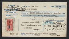"""CENON (33) ALCOOLS / LIQUEUR de l'ABBAYE """"VIEILLE CURE"""" en 1948"""