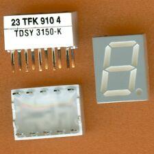 14× Temic TDSY3150-K 7 SEGMENT LED DISPLAY 10mm YELLOW COMMON ANODE CA DIP-10 †