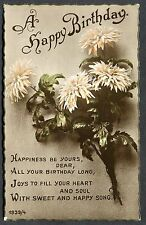 Posted 1925 - Birthday Card - Flowers - Sweet & Happy Song. Catford