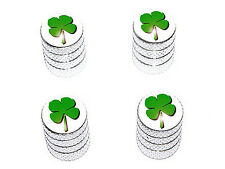 Four Leaf Clover Irish Tire Valve Stem Caps - Aluminum