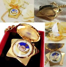 SAILOR MOON LOCKET STAR REPLICA CIONDOLO OROLOGIO COFANETTO COMPACT SUONI GOLD