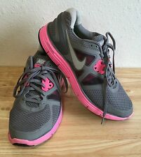 NIKE LUNARGLIDE+ 3 Lunarlon Running Shoes Trainers Sneakers Womens 11 Gray Pink