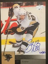 2009-2010 UD Hockey SIDNEY CROSBY Buyback On Card Auto Autographed SP #20/87