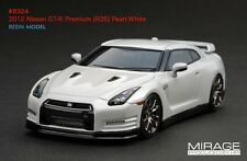 LIMITED EDITION LHD! HPI #8324 Nissan R35 GT-R PREMIUM Pearl White 1/43 Model